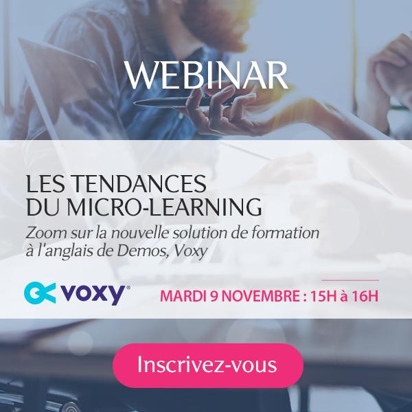 Webinar : le micro learning
